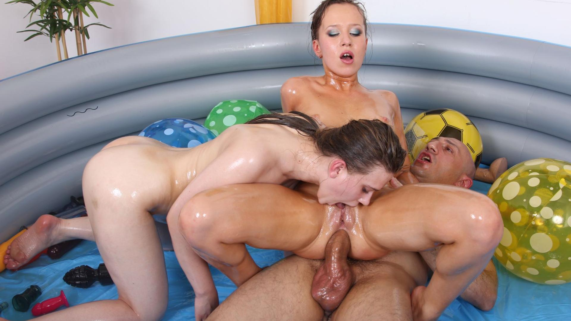 Oil, virginity, and threesome