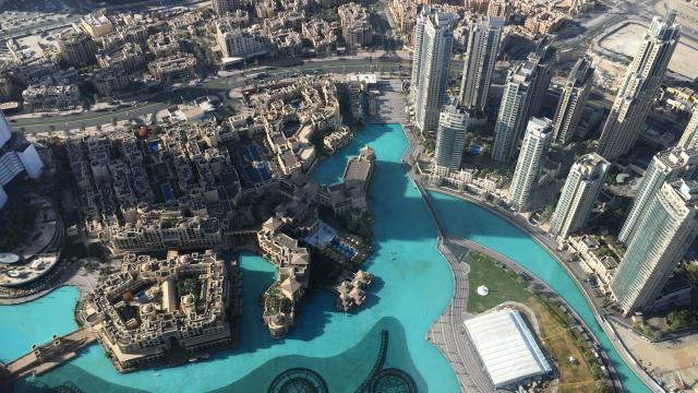 AERIAL VIEW OF DUBAI - UNITED ARAB EMIRATES