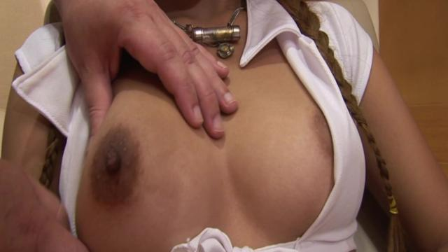 Asian Secretary CumShot With Her Owner