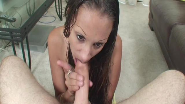 Black Hair Asian Girl Like CumSHot In Face