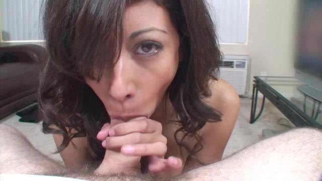 Horny Brunette Play With Big Cock
