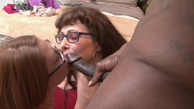 Mom And Daughter Taste Real Black Cock