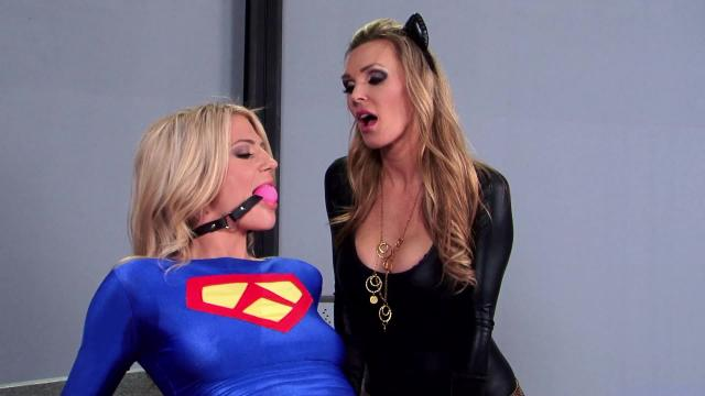 Milf and teen with cosplay starts great lesbians sex during shooting